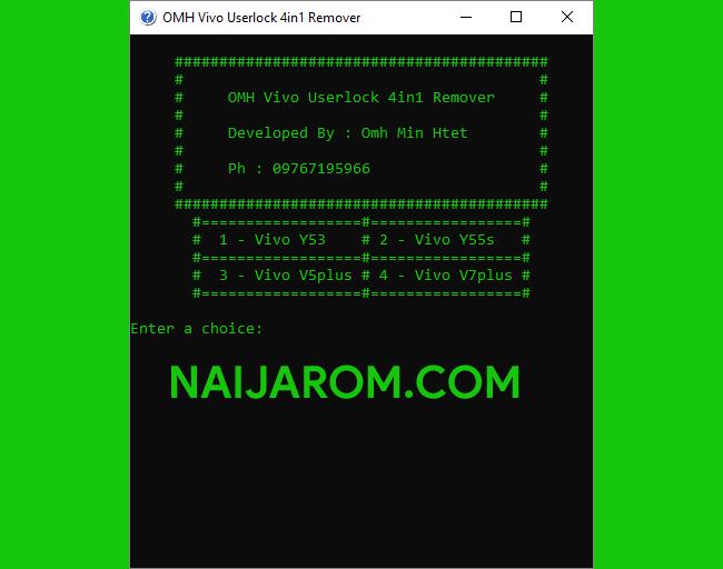 omh vivo userlock remover