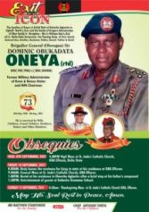 Oneya, former NFA chairman, to be buried on Sept 10, 2021