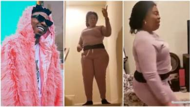 Mayorkun's mom dances to his new song