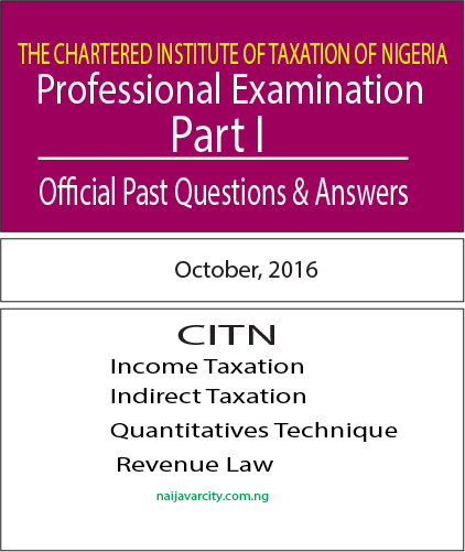 CITN Professional Examination PT I 2016