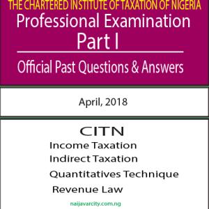 CITN Professional Examination PT I 2018