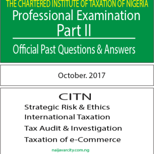 CITN Professional Examination PT II 2017