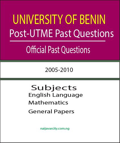 UNIBEN Post-UTME Past Questions