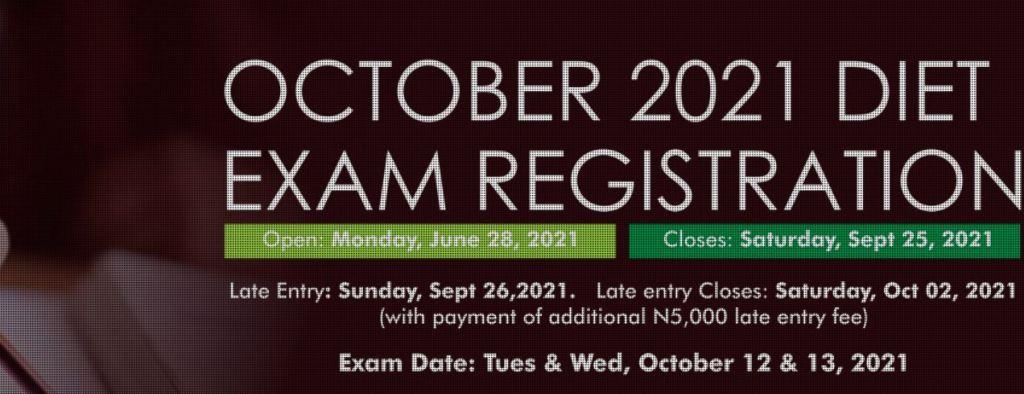 CITN October 2021 Exam Diet Registration