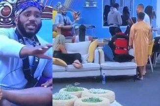 BBNaija2020: Housemates Go Haywire After Kiddwaya Said He'd Still Be In The House Next Week Unlike The Rest Of The Housemates (Video)