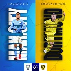 STREAM LIVE: Manchester City Vs Borussia Dortmund [Watch Now] CHAMPIONS LEAGUE 2020/2021