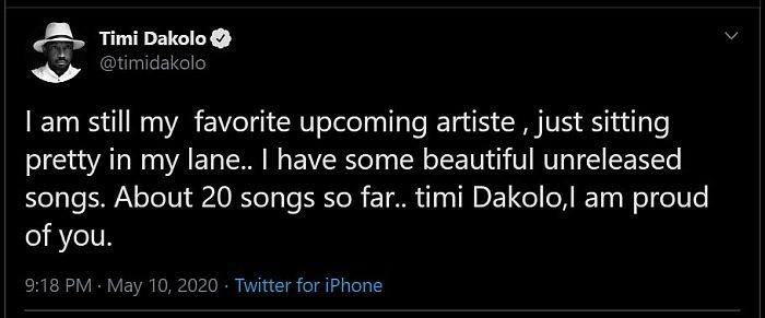 I Have More 20 Unrealesed Songs – Timi Dakolo