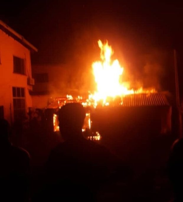 Lekki Massacre: Sanwo-Olu Family House On Fire (Video)