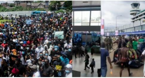 #EndSARS Protesters Break Into Lagos International Airport