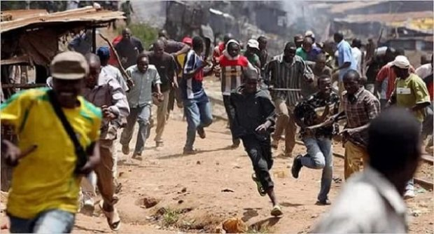Tension In Ajah As Hoodlums Clash With Police (See Video)