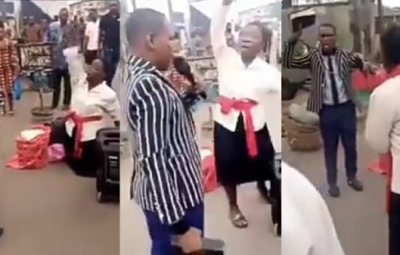 Two Preachers Fight Over Preaching Spot In Lagos State (See Video)