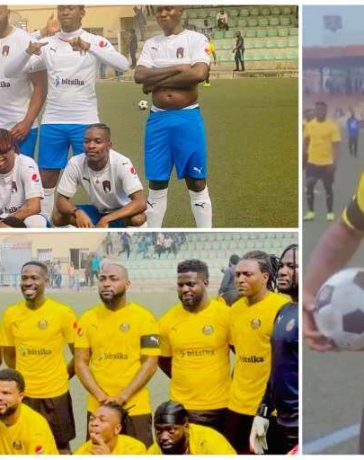 Davido, Ozo, Laycon, Zlatan, Others Storm Lagos for Football Match