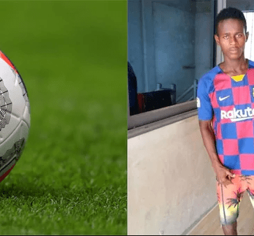 Sad Young African footballer dies after suffering serious head injury on the pitch