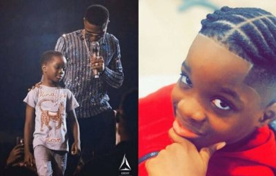 Wizkid and First Son Tife Thrills with Cute Father-Son Photos