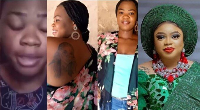 Father of Lady Who Tattooed Bobrisky On Her Body Reportedly Disowns Her, See Reactions (Video)