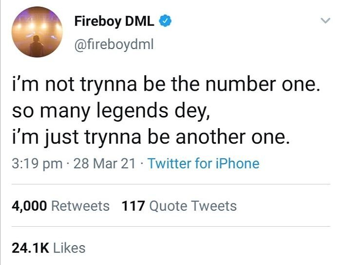 """""""I'm Not Trying To Be Number One"""" – Fireboy DM"""