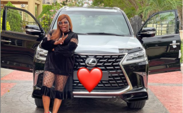 Funke Akindele-Bello Gifts Herself N135M Lexus SUV