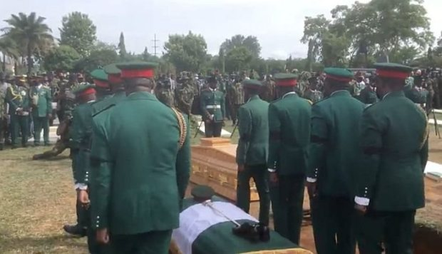 See The Moment The Bodies Of Officers Who Died In Military Air Crash Arrived For Final Burial (Photos & Video)