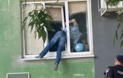 Man Almost Dies After Getting Stuck In Ex's Window While Trying To Beg Her S*x (Photos)