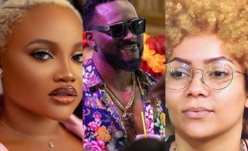 BBNaija 2021: Big Brother Issues First Strikes To Pere, Maria & JMK For Committing Microphone Infringement