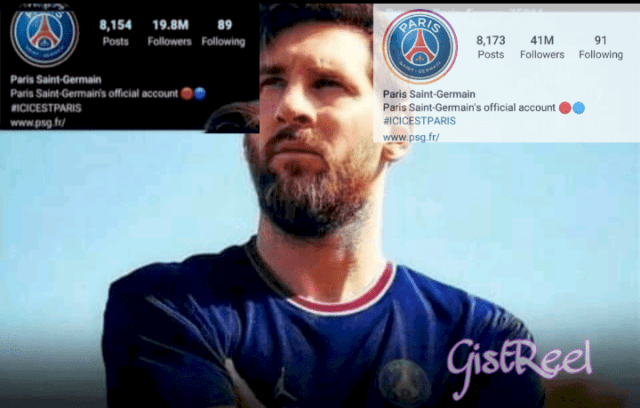 PSG Instagram Page Gets 22m New Followers, Just Hours After Messi Transfer!!