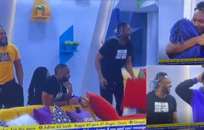 """BBNaija: """"WhiteMoney is not happy we came back to the house. His laugh is fake"""" — Angel tells Pere (Video)"""