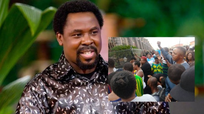 Sympathizers has already thronged the Synagogue Church building over the death of TB Joshua as they hope he would rise again
