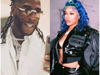 Burna Boy and Stefflon Don noticed having dinner with household (Video)