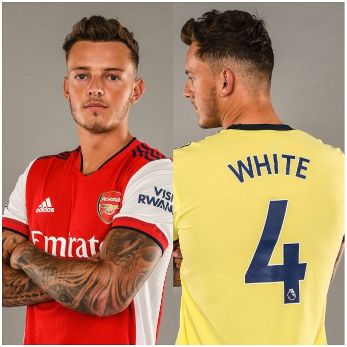 Ben White famous person in Arsenal kits hours Arsenal clinched his signing in a whopping deal of £50 million