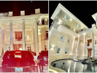 Reaction as Ubi Franklin shares the indoors view of Obi Cubana's multi million mansion in Abuja