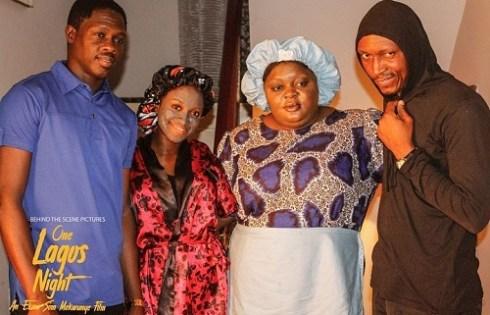 Eniola Badmus on set