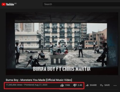 Burna Boy dragged for 'buying fake YouTube views' for Monsters You Made video