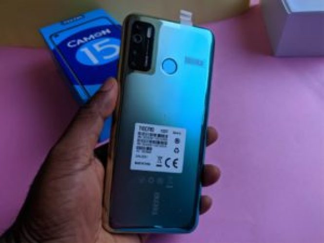TECNO Camon 15 back view