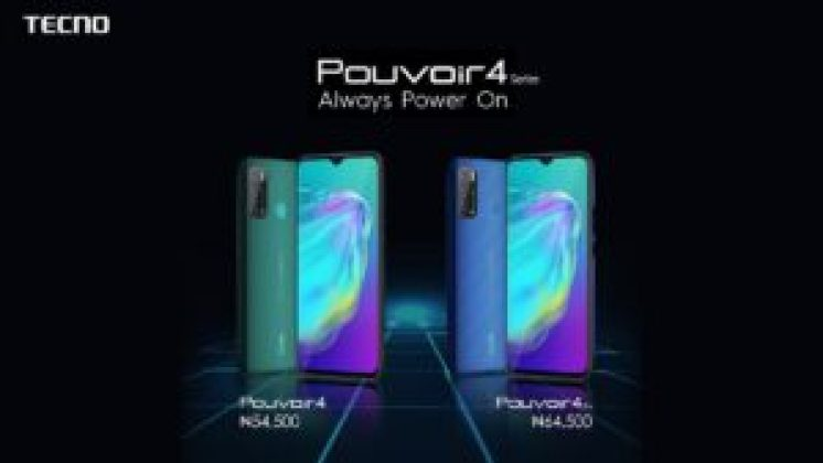 TECNO Launches Pouvoir 4 Series with Always-on 6000mah battery and 18W fast charging