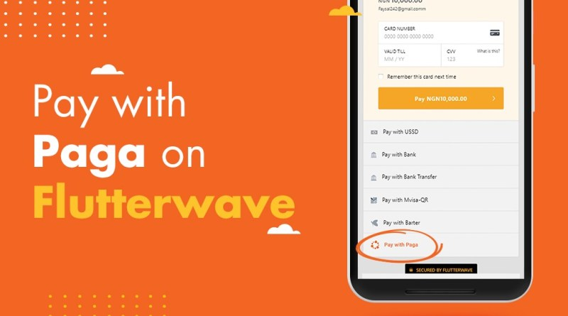 Flutterwave Payment Gateway Features Paga as a Payment Option