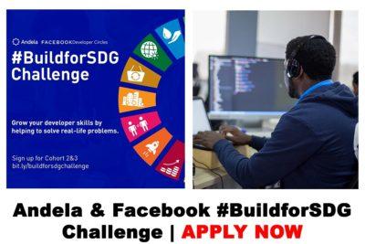Andela and Facebook #BuildforSDG Challenge 2020 | APPLY NOW