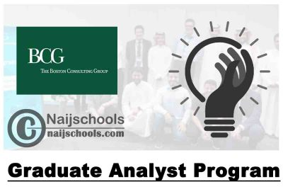 Boston Consulting Group Graduate (BCG) Analyst Programme 2021 for Young Nigerians | APPLY NOW