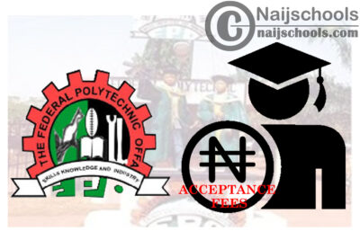 Federal Polytechnic Offa Acceptance Fee Payment Procedure for 2020/2021 ND, HND & IJMB Newly Admitted Candidates   CHECK NOW