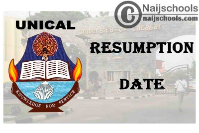 University of Calabar (UNICAL) Announces 2021 Resumption Date of 2019/2020 Academic Session | CHECK NOW