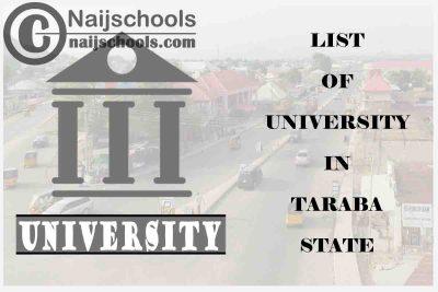 Full List of Federal, State & Private Universities in Taraba State Nigeria