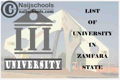 Full List of Federal, State & Private Universities in Zamfara State Nigeria