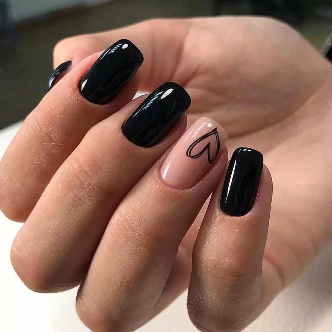 86 Trendy Black Nail Art Designs 2020 Best New Pictures