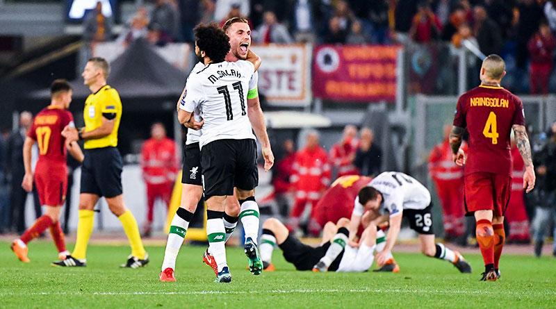 Ливерпуль проигрывает Роме, но выходит в финал ЛЧ