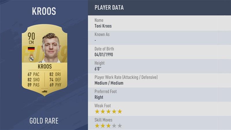 Тони Кроос в FIFA 19