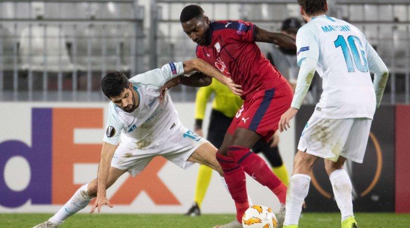 Зенит добивается ничьей в матче против Бордо в Лиге Европы
