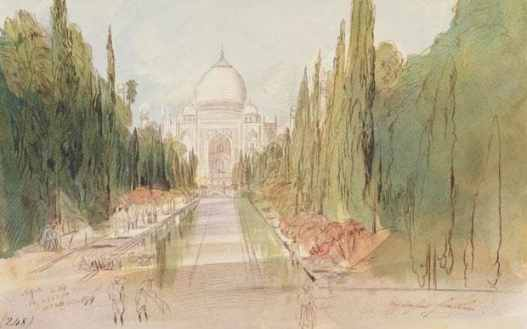 Edward Lear's paintings of India during his visit to India as a guest of Lord Northbrook