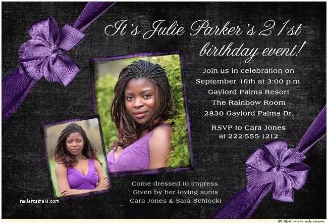 21 Birthday Invitations 21st