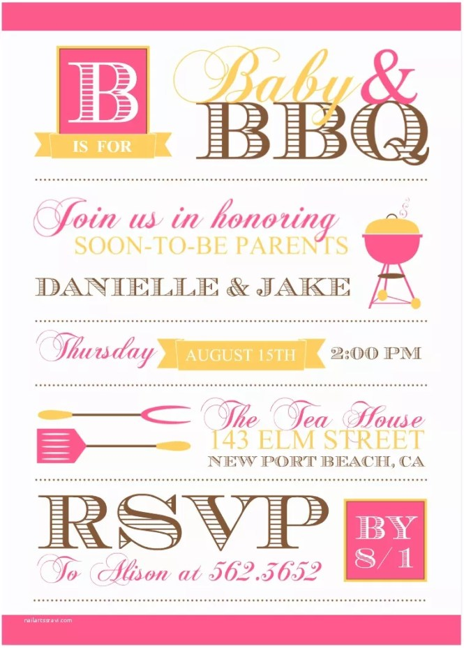 Bbq Baby Shower Invitations Theme