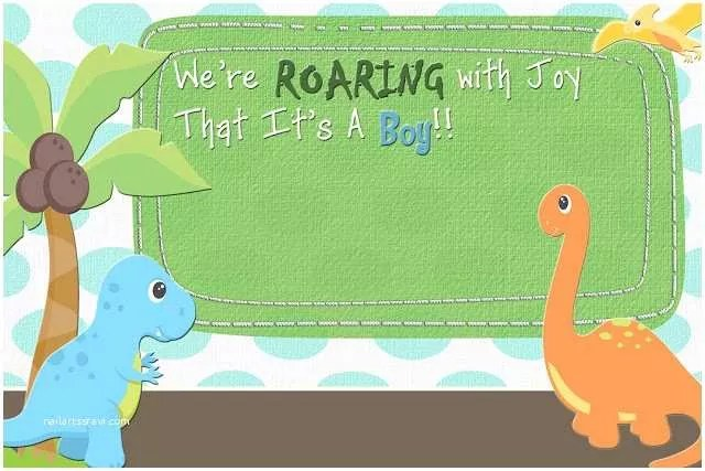 Dinosaur Baby Shower Invitations The Fast Lane Freebie