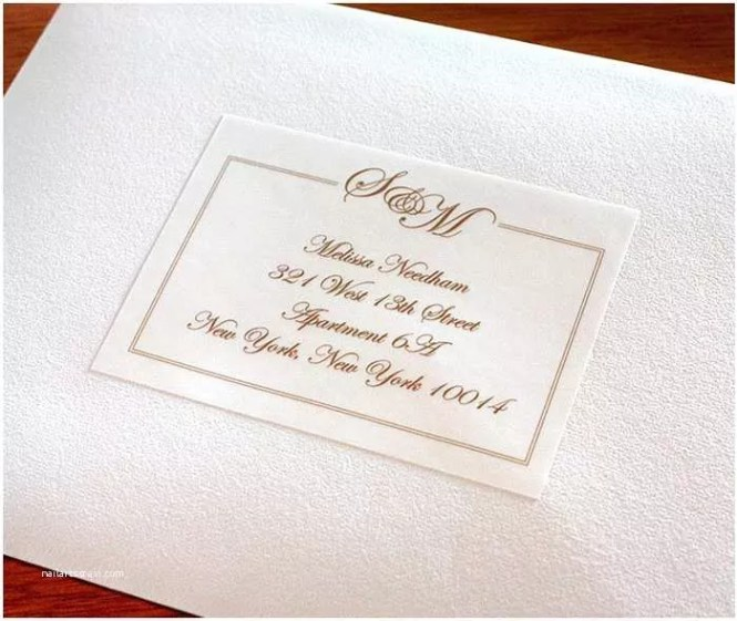 Address Labels For Wedding Invitations